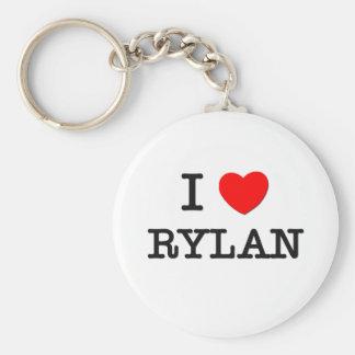 I Love Rylan Basic Round Button Key Ring