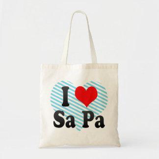 I Love Sa Pa, Viet Nam Canvas Bag