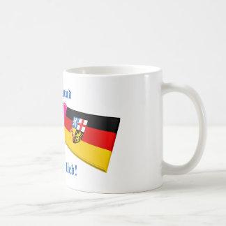 I Love Saarland ist mir lieb Basic White Mug