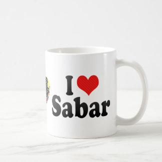 I Love Sabar Basic White Mug