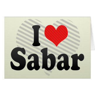 I Love Sabar Greeting Card