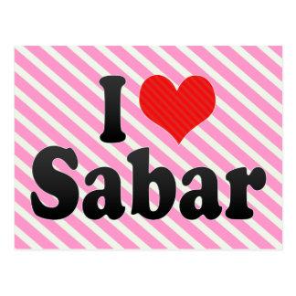 I Love Sabar Postcard