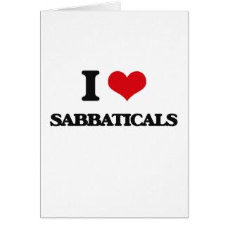 I Love Sabbaticals Card