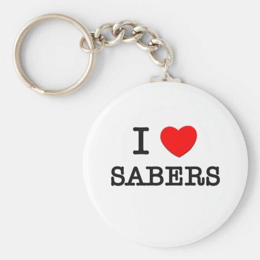 I Love Sabers Keychain