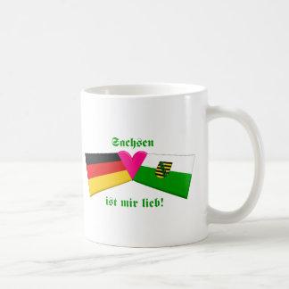 I Love Sachsen ist mir lieb Basic White Mug
