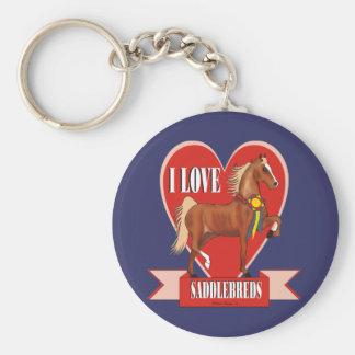 I Love Saddlebreds Keychain
