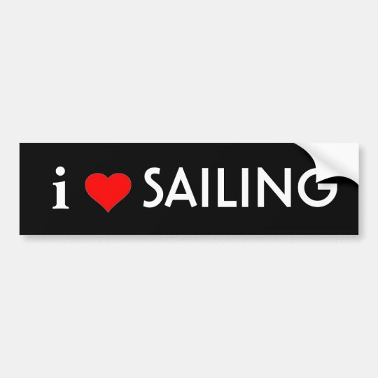 I Love Sailing Bumper Sticker