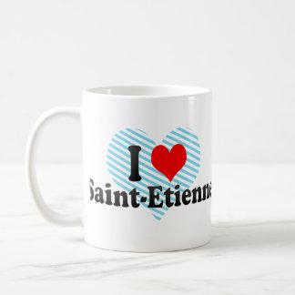 I Love Saint-Etienne, France Basic White Mug