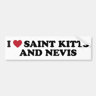 I Love Saint Kitts and Nevis Bumper Stickers