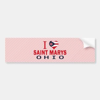 I love Saint Marys, Ohio Bumper Stickers