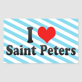 I Love Saint Peters, United States Rectangle Stickers
