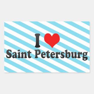 I Love Saint Petersburg, Russia Rectangular Sticker