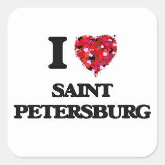 I love Saint Petersburg Russia Square Sticker
