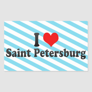 I Love Saint Petersburg, Russia Stickers