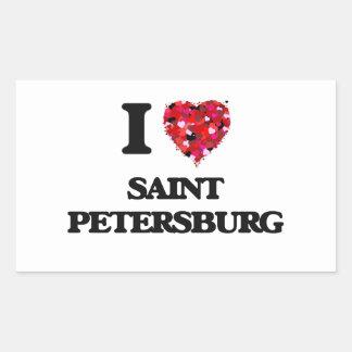 I love Saint Petersburg Russia Rectangular Sticker