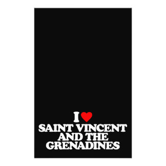 I LOVE SAINT VINCENT AND THE GRENADINES 14 CM X 21.5 CM FLYER