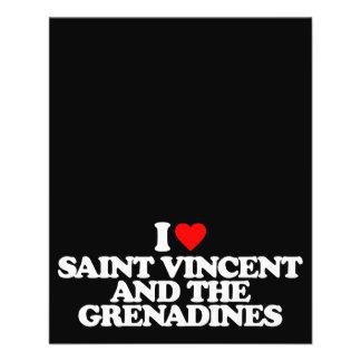 I LOVE SAINT VINCENT AND THE GRENADINES 11.5 CM X 14 CM FLYER