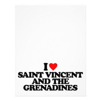 I LOVE SAINT VINCENT AND THE GRENADINES FLYER DESIGN