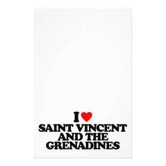 I LOVE SAINT VINCENT AND THE GRENADINES FLYER