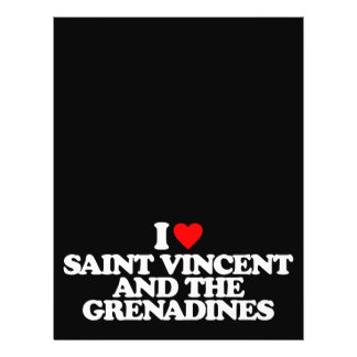 I LOVE SAINT VINCENT AND THE GRENADINES FLYERS