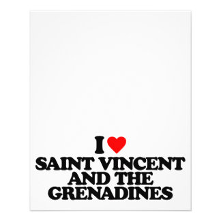 I LOVE SAINT VINCENT AND THE GRENADINES PERSONALIZED FLYER
