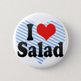 I Love Salad 6 Cm Round Badge
