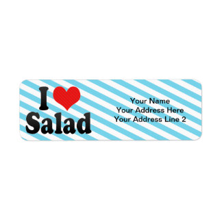 I Love Salad Return Address Label