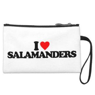 I LOVE SALAMANDERS WRISTLET PURSE