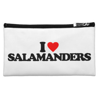 I LOVE SALAMANDERS MAKEUP BAG