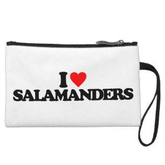 I LOVE SALAMANDERS WRISTLET PURSES