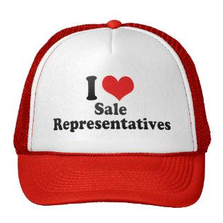 I Love Sale Representatives Mesh Hats