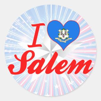 I Love Salem, Connecticut Round Sticker