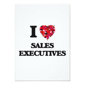 I love Sales Executives 13 Cm X 18 Cm Invitation Card