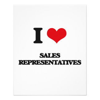 I love Sales Representatives Personalized Flyer