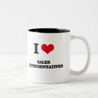 I love Sales Representatives Coffee Mugs
