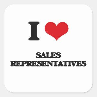 I love Sales Representatives Square Sticker
