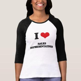 I Love Sales Representatives Tee Shirts