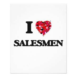 I love Salesmen 11.5 Cm X 14 Cm Flyer