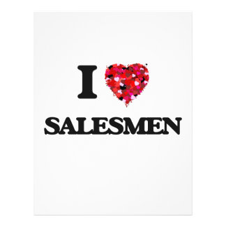 I love Salesmen 21.5 Cm X 28 Cm Flyer