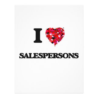 I love Salespersons 21.5 Cm X 28 Cm Flyer