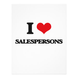 I love Salespersons Personalized Flyer