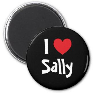 I Love Sally 6 Cm Round Magnet