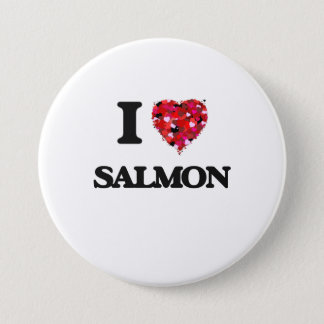 I Love Salmon food design 7.5 Cm Round Badge