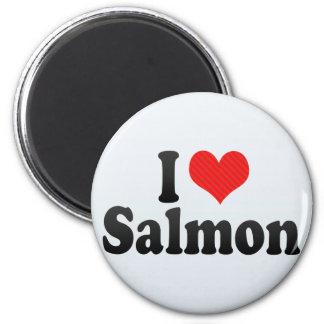 I Love Salmon Fridge Magnet