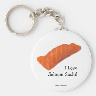 I love salmon sushi Keychain
