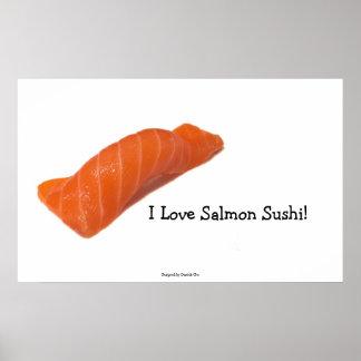 I Love salmon sushi! Poster