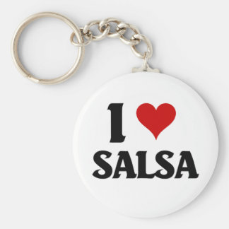 I love salsa basic round button key ring