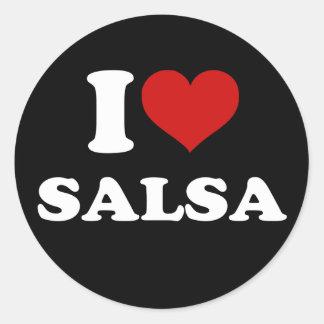 I Love Salsa Classic Round Sticker