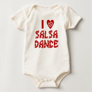 I Love Salsa Dance Custom Dancing Lover Baby Bodysuit