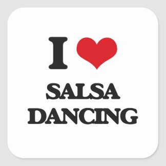 I love Salsa Dancing Square Sticker